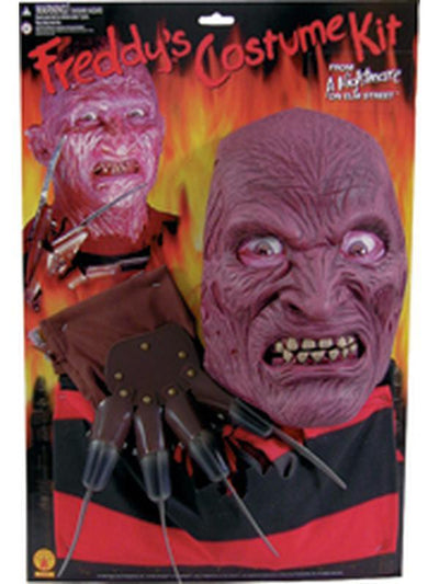 Freddy Krueger Adult Blister Set - Size Std-Costumes - Mens-Jokers Costume Hire and Sales Mega Store