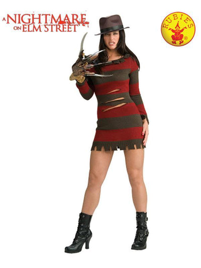 FREDDY 'MISS KRUEGER' SECRET WISHES - SIZE M-Costumes - Women-Jokers Costume Hire and Sales Mega Store