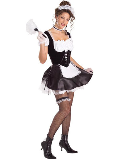 French Maid Secret Wishes Costume- Size M-Costumes - Women-Jokers Costume Hire and Sales Mega Store