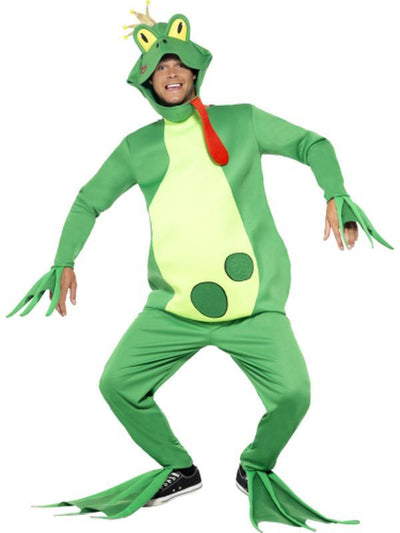 Frog Prince Costume, Top with Attached Gloves-Jokers Costume Mega Store