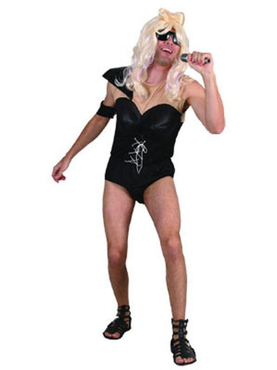**Funny Pop Star - Adult - Large**-Costumes - Mens-Jokers Costume Hire and Sales Mega Store