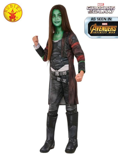 GAMORA DELUXE COSTUME, CHILD-Costumes - Girls-Jokers Costume Mega Store