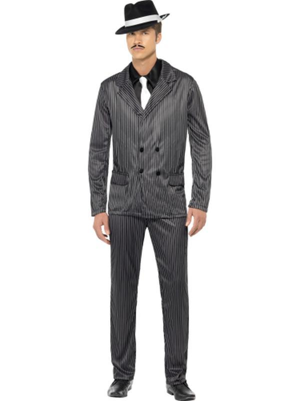 Gangster Costume - Black-Jokers Costume Mega Store
