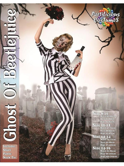 Ghost of Beetlejuice-Costumes - Women-Jokers Costume Hire and Sales Mega Store