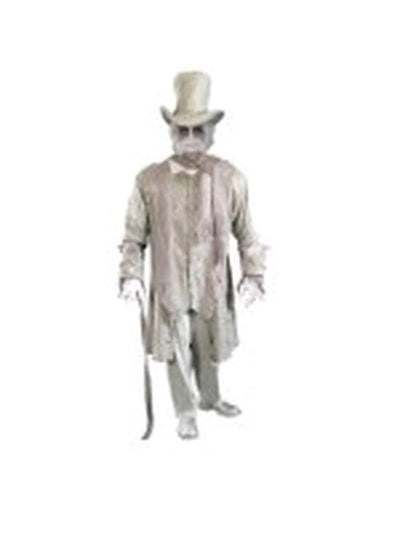 Ghostly Gentleman Costume - Size Std-Costumes - Mens-Jokers Costume Hire and Sales Mega Store