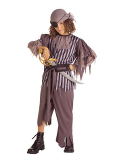Ghostship Captain - Size L-Costumes - Boys-Jokers Costume Hire and Sales Mega Store