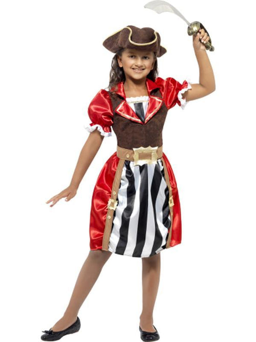 Girls Pirate Captain Costume-Costumes - Girls-Jokers Costume Hire and Sales Mega Store
