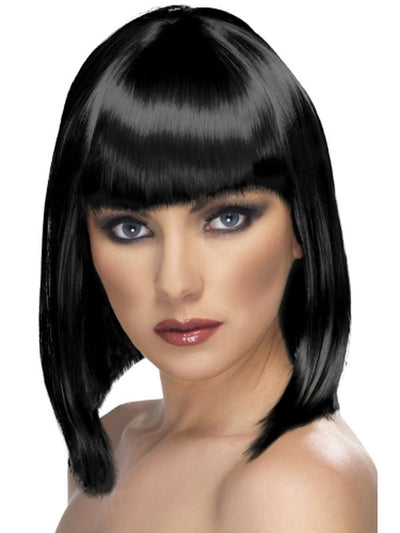 Glam Wig - Black, Short-Wigs-Jokers Costume Hire and Sales Mega Store