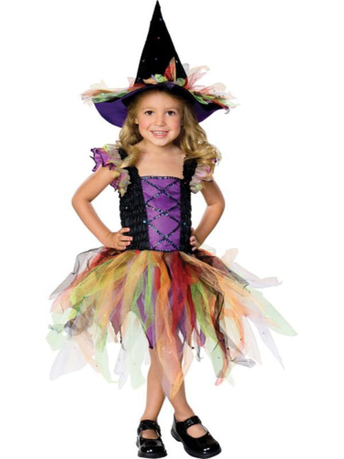 Glitter Witch Costume - Size S-Costumes - Girls-Jokers Costume Hire and Sales Mega Store