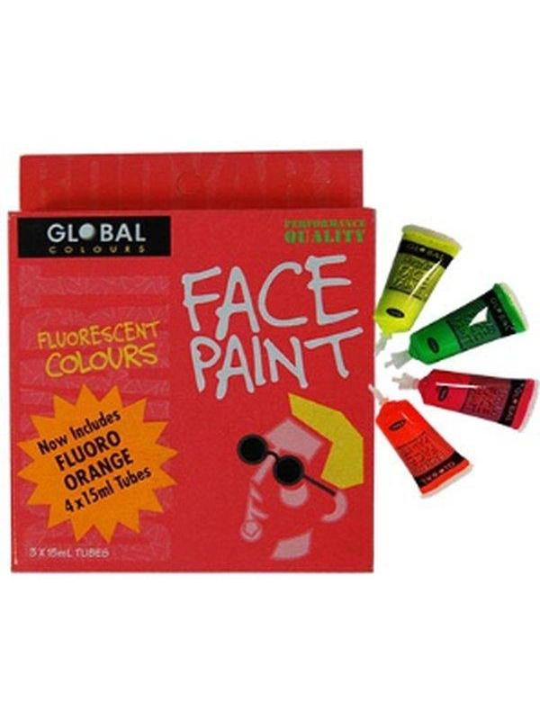 **Global Body Art 15ml Pack - Fluoro**-Make-up - Global Body Art-Jokers Costume Hire and Sales Mega Store