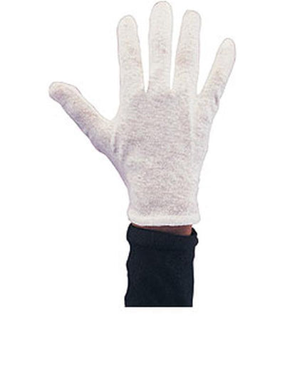 Gloves Mens White Cotton-Jokers Costume Mega Store