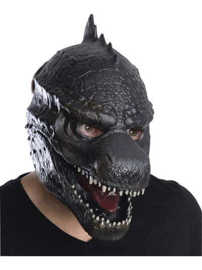 Godzilla 3/4 Vinyl Mask Adult.-Masks - Latex-Jokers Costume Hire and Sales Mega Store