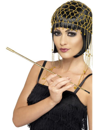 Gold Extendable Cigarette Holder-Costume Accessories-Jokers Costume Hire and Sales Mega Store