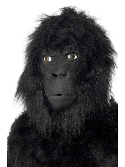 Gorilla Mask - Black Large Overhead-Masks - Latex-Jokers Costume Hire and Sales Mega Store
