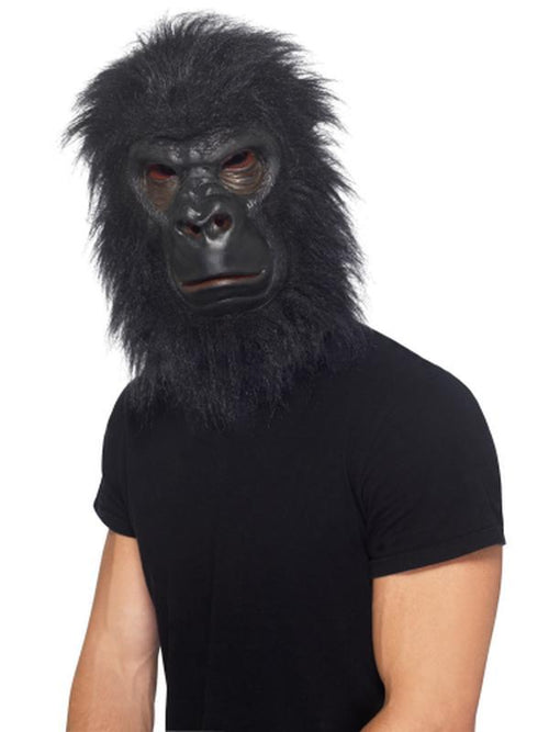 Gorilla Mask - Black with Hair-Masks - Latex-Jokers Costume Hire and Sales Mega Store