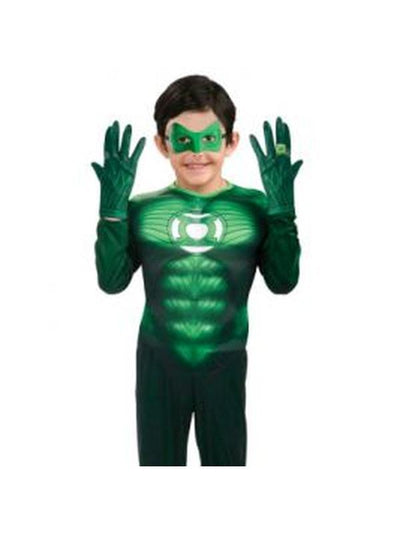 Green Lantern Gloves Child-Armwear-Jokers Costume Hire and Sales Mega Store