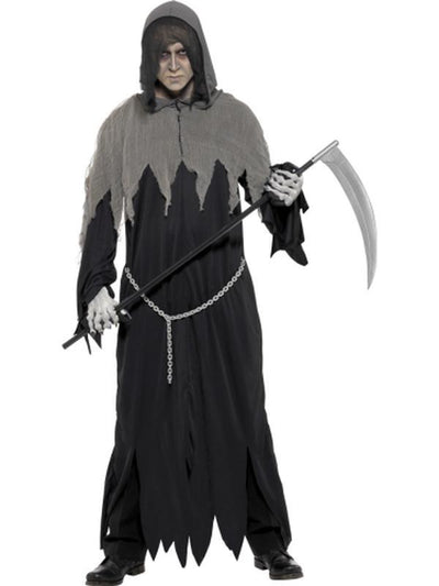 Grim Reaper Robe Costume-Costumes - Mens-Jokers Costume Hire and Sales Mega Store