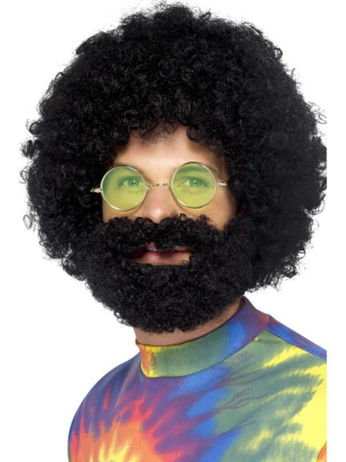 Groovy Dude Afro Wig and Beard-Wigs-Jokers Costume Hire and Sales Mega Store