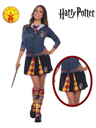 GRYFFINDOR ADULT SKIRT - ONE SIZE-Costumes - Women-Jokers Costume Hire and Sales Mega Store
