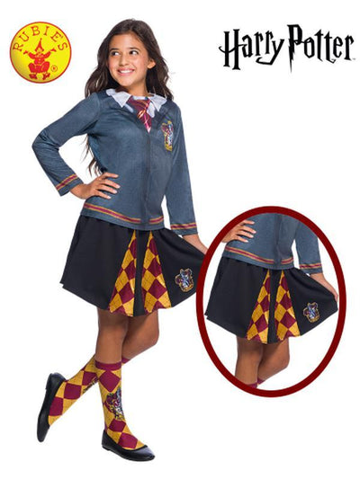 GRYFFINDOR CHILD SKIRT - ONE SIZE-Costumes - Girls-Jokers Costume Hire and Sales Mega Store