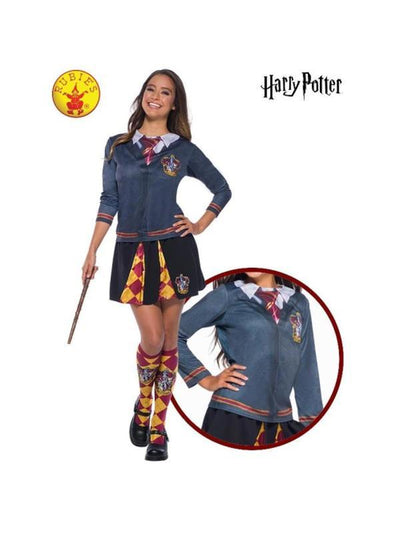 GRYFFINDOR COSTUME TOP, ADULT.-Costumes - Women-Jokers Costume Hire and Sales Mega Store