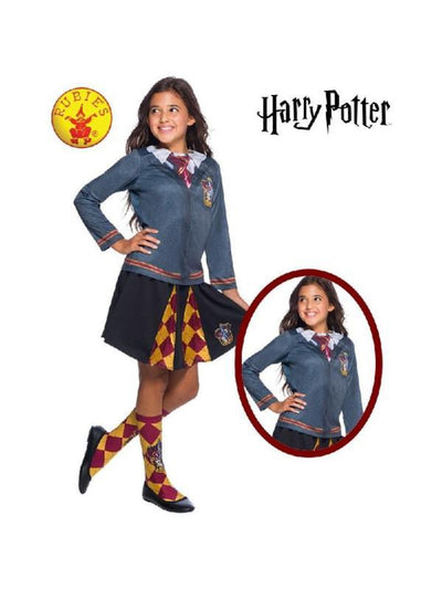 GRYFFINDOR COSTUME TOP, CHILD-Costumes - Girls-Jokers Costume Hire and Sales Mega Store