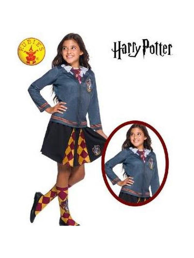 GRYFFINDOR COSTUME TOP - SIZE L-Costumes - Girls-Jokers Costume Hire and Sales Mega Store