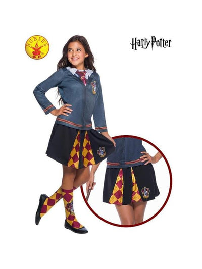GRYFFINDOR SKIRT, CHILD-Costumes - Girls-Jokers Costume Hire and Sales Mega Store