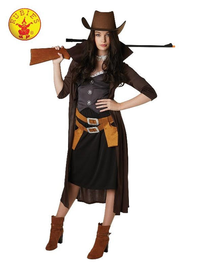 Gunslinger Womans Costume - Size S-Costumes - Women-Jokers Costume Hire and Sales Mega Store