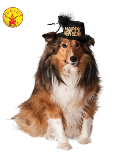 HAPPY NEW YEAR PET HAT - SIZE M-L-Costumes - Pets-Jokers Costume Hire and Sales Mega Store