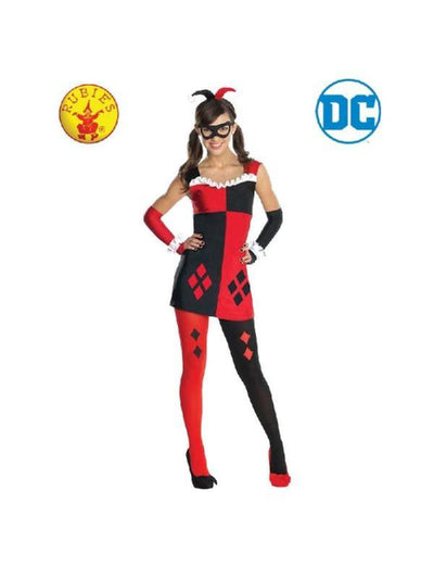 Harley Quinn Costume - Size M Tween-Costumes - Girls-Jokers Costume Hire and Sales Mega Store