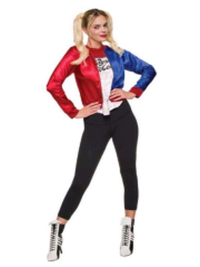 Harley Quinn Costume Top - Size L-Costumes - Women-Jokers Costume Hire and Sales Mega Store
