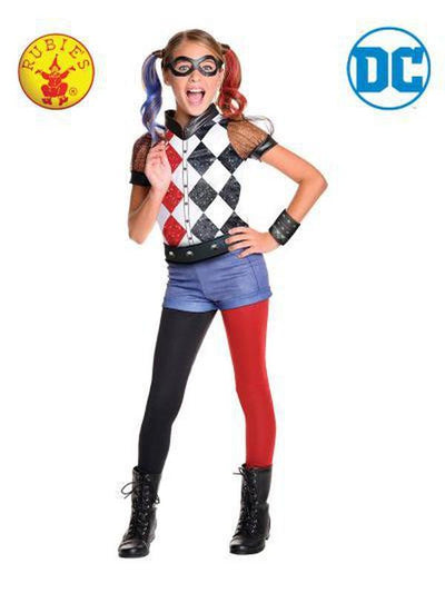 HARLEY QUINN DCSHG DELUXE - SIZE 9-12-Costumes - Girls-Jokers Costume Hire and Sales Mega Store