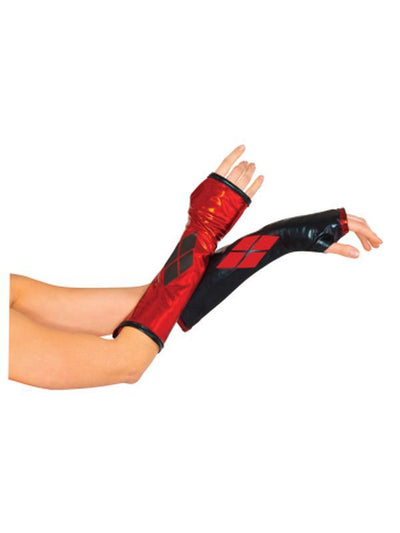 Harley Quinn Gauntlets-Armwear-Jokers Costume Hire and Sales Mega Store