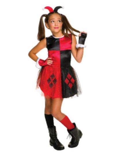 Harley Quinn - Size S - Girls-Costumes - Girls-Jokers Costume Hire and Sales Mega Store