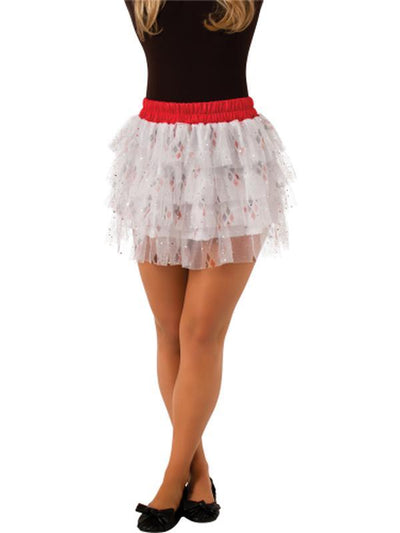 Harley Quinn Skirt With Sequins Teen - Size Std-Costumes - Girls-Jokers Costume Hire and Sales Mega Store