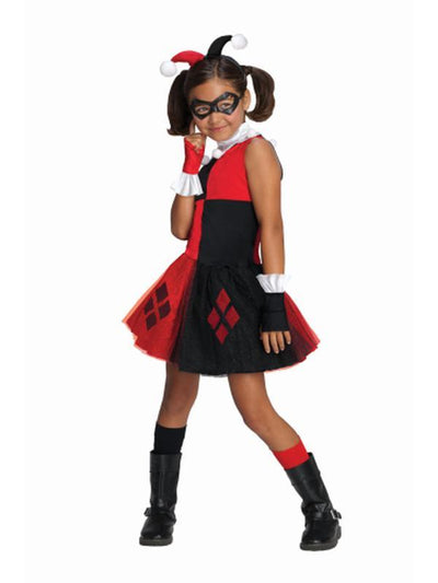 Harley Quinn Tutu Costume - Size M-Costumes - Girls-Jokers Costume Hire and Sales Mega Store