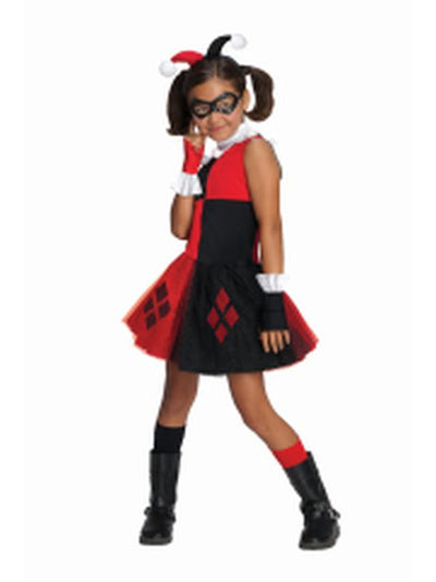 Harley Quinn Tutu Costume - Size T-Costumes - Girls-Jokers Costume Hire and Sales Mega Store