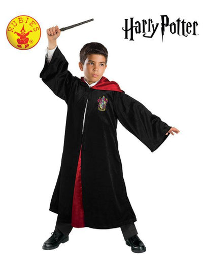 HARRY POTTER DELUXE ROBE - SIZE 6+-Costumes - Boys-Jokers Costume Hire and Sales Mega Store