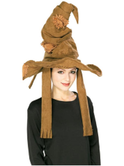 Harry Potter Sorting Hat Brown-Hats and Headwear-Jokers Costume Hire and Sales Mega Store