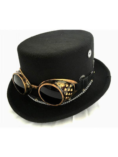 HAT - STEAM PUNK with GOGGLES-Hats and Headwear-Jokers Costume Mega Store