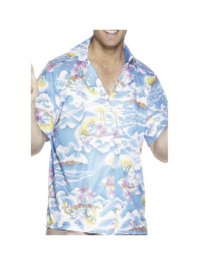 Hawaiian Shirt - Blue-Costumes - Mens-Jokers Costume Hire and Sales Mega Store