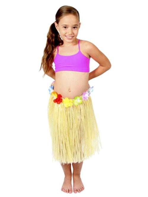 Hawaiian Skirt - Natural - Childs 40cm-Costumes - Girls-Jokers Costume Hire and Sales Mega Store