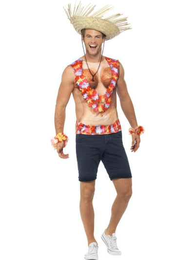 Hawaiian Vest-Costumes - Mens-Jokers Costume Hire and Sales Mega Store