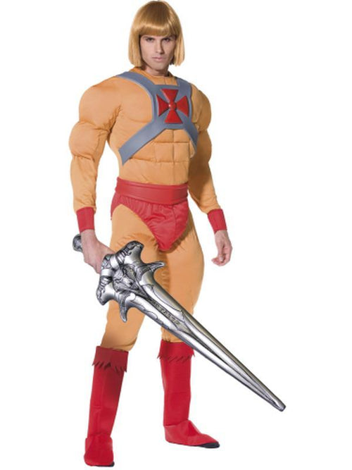 He-Man/Prince Adam Muscle Costume-Costumes - Mens-Jokers Costume Hire and Sales Mega Store