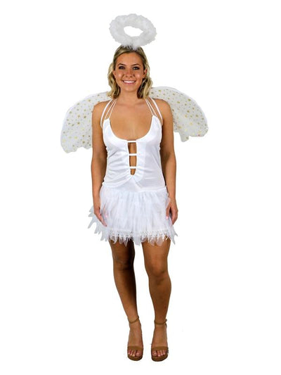 Heavens Snow Angel - Adult - Medium-Costumes - Women-Jokers Costume Hire and Sales Mega Store