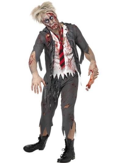 High School Horror Zombie Schoolboy Costume-Costumes - Mens-Jokers Costume Hire and Sales Mega Store