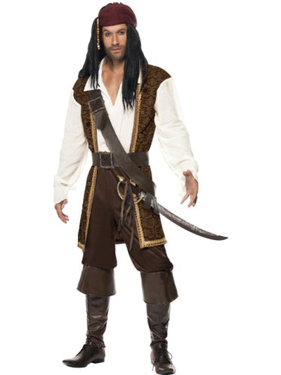 High Seas Pirate Costume-Costumes - Mens-Jokers Costume Hire and Sales Mega Store