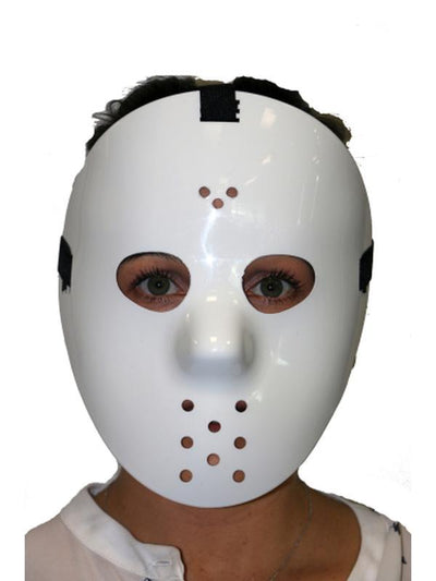 Hockey Mask - White-Masks - Halloween-Jokers Costume Mega Store