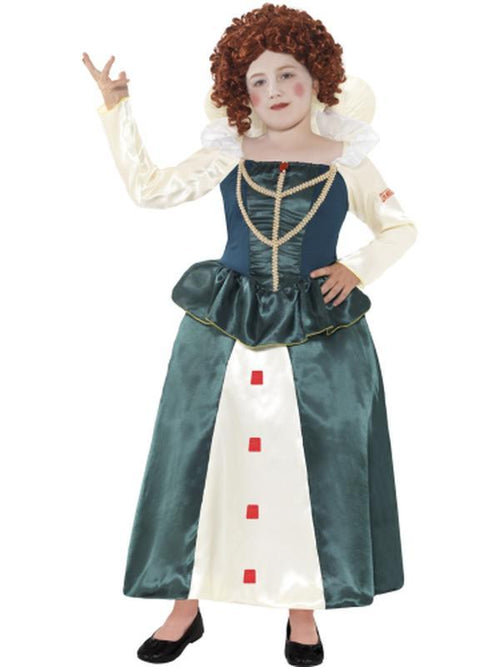 Horrible Histories Elizabeth I Costume-Costumes - Girls-Jokers Costume Hire and Sales Mega Store